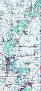 Водный поход по Вороне, карта маршрута