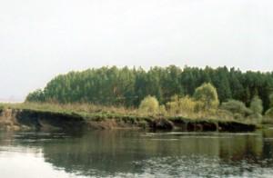 Река Ворона, Тамбовская область, курган