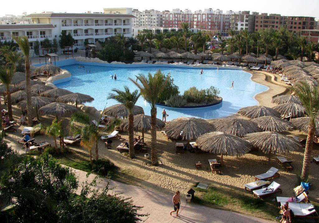 Аквапарк Синдбад, Хургада: центральный бассейн