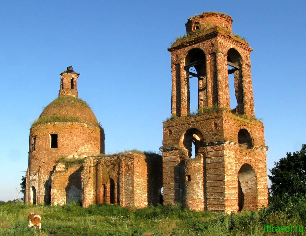 Ахтырка, Рассказовский район, церковь