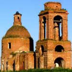 Разрушенная церковь. Ахтырка, Рассказовский район, Тамбовская область.