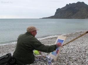 Коктебель, одинокий художник