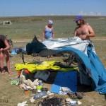 День 8: Окуневка, собираем лагерь
