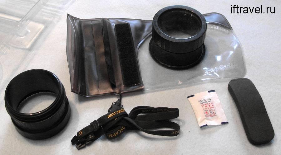 Подводный бокс Dicapack WP-610 - комплект поставки