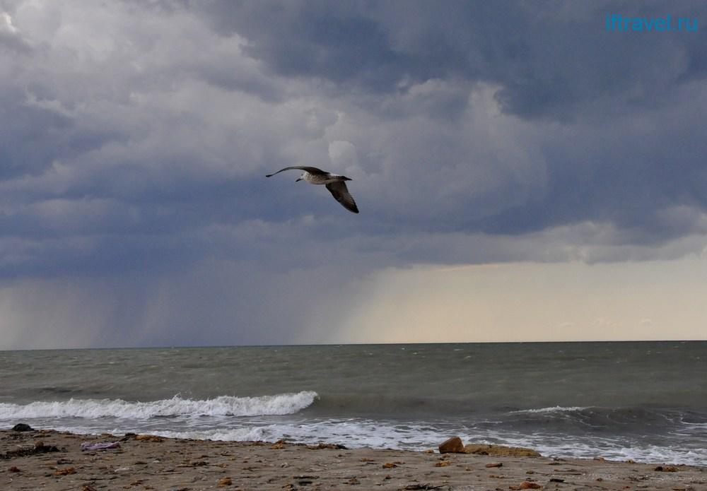 Бакальская коса: надвигается шторм