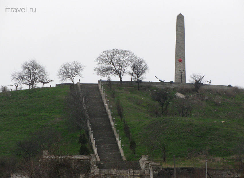 Гора Митридат, Керчь. Вид с пл. Ленина