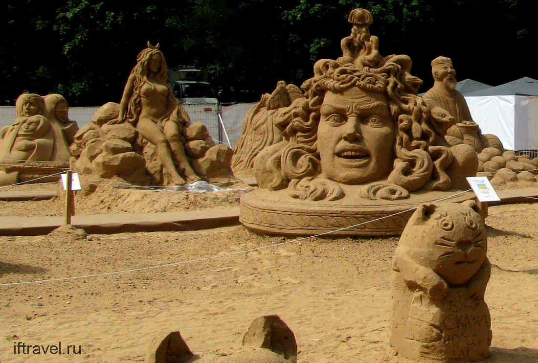 ВДНХ, выставка песчаных фигур