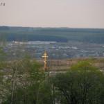 Дивногорье, крест над монастырем