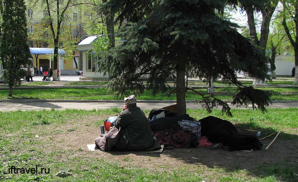 Бабка-бомж, Воронеж