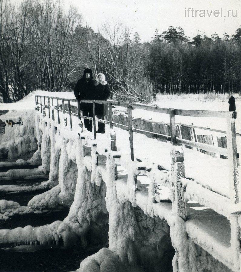 Плотина зимой, 1968