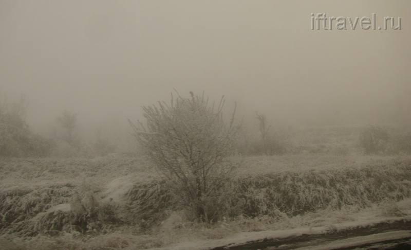 Туманный сумрак при выезде из Еревана