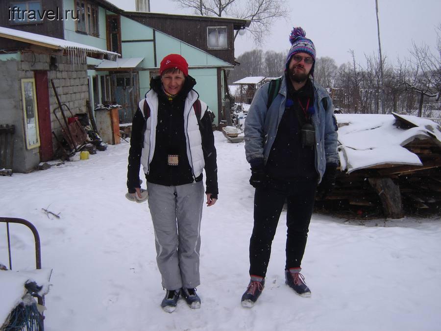 Хмурое снежное утро в Сухотинке