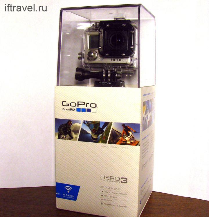 GoPro Hero 3 в пафосной коробке