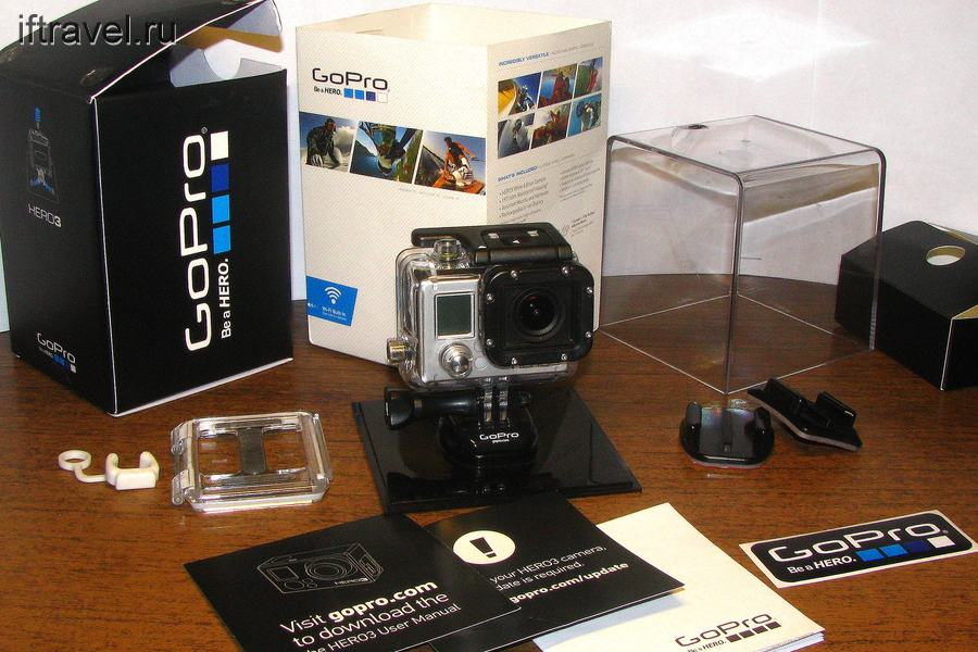 GoPro Hero 3 White: комплект поставки