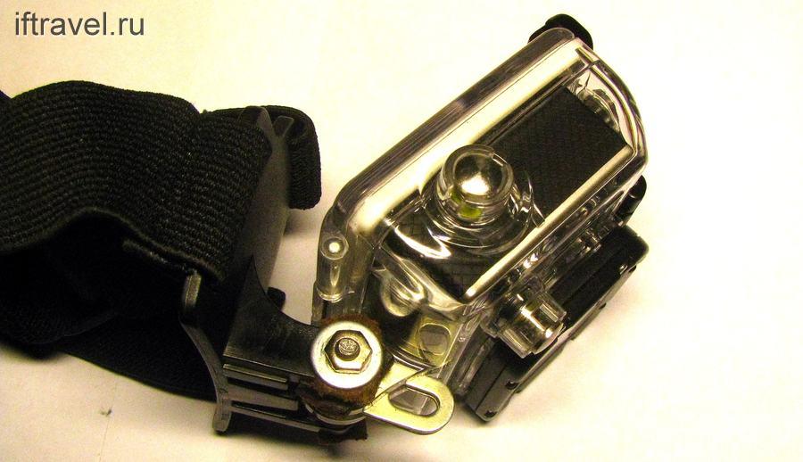 Самодельное крепление GoPro на площадку от фонарика