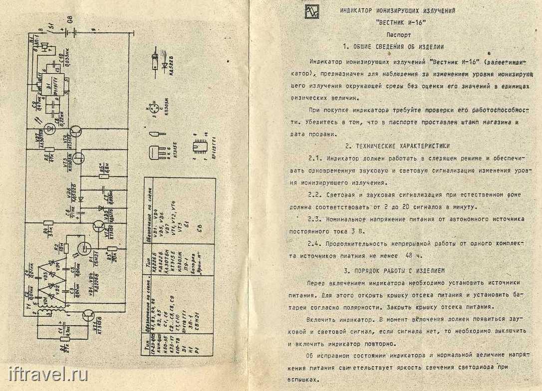 Паспорт к индикатору ВЕСТНИК И-16