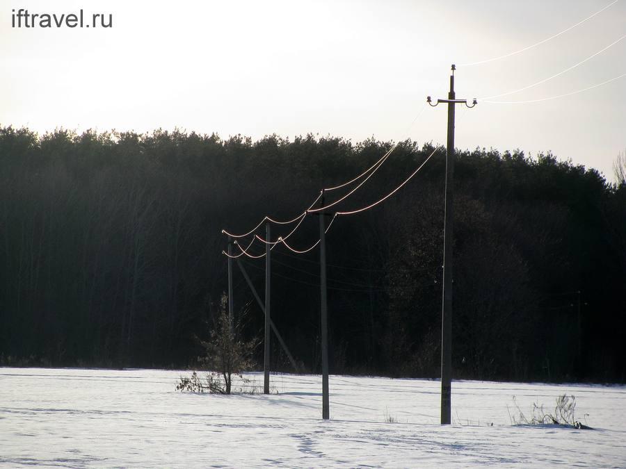Провода и солнце