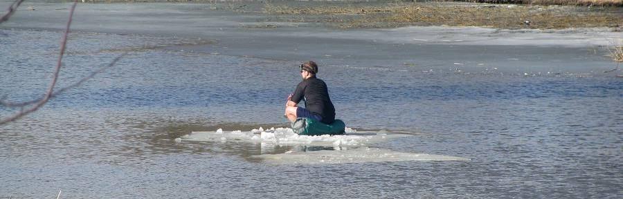 Законно ли в Тамбове плавать на льдинах? Об открытии купального сезона 2014