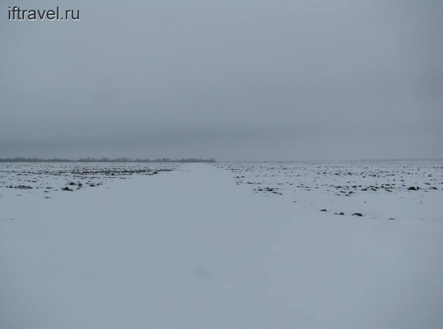 Дорога под снегом