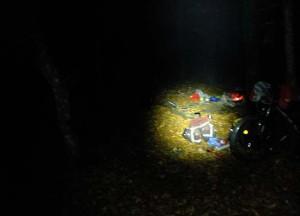 Ночная разбивка лагеря