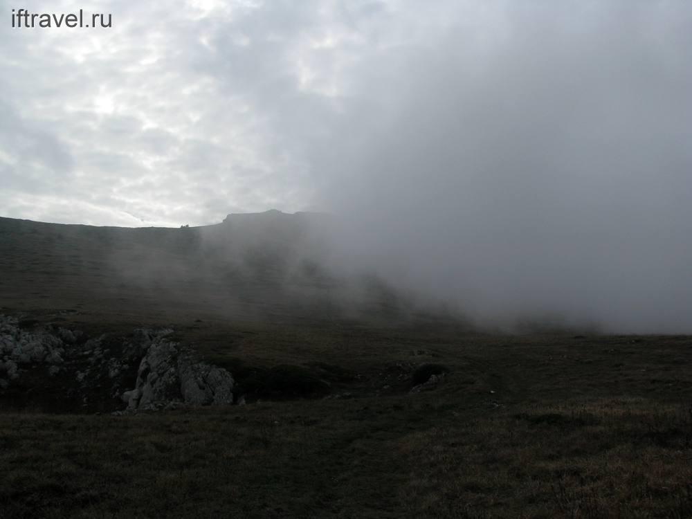Чатыр-Даг, туманная стена
