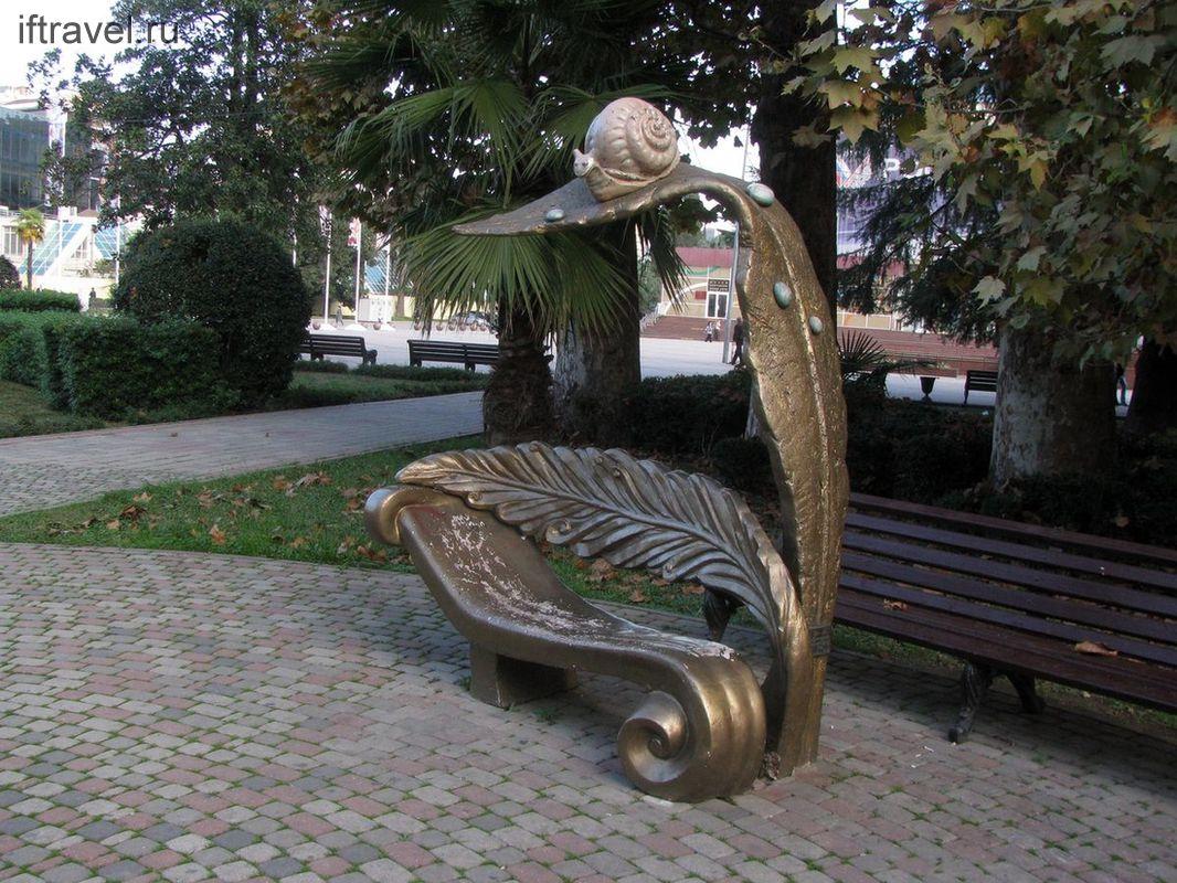 Улиткоморфная скамейка