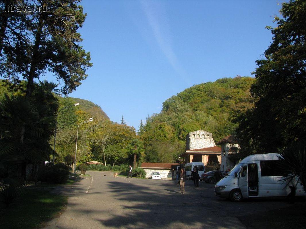 Въезд в Агурское ущелье