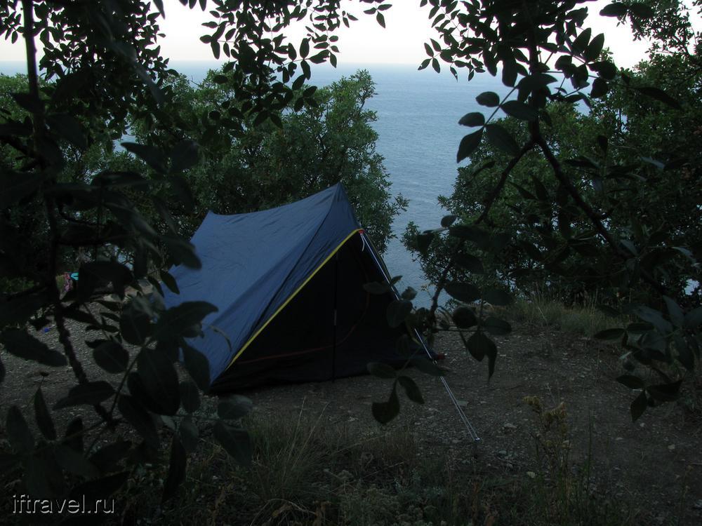 Палатка на вершине