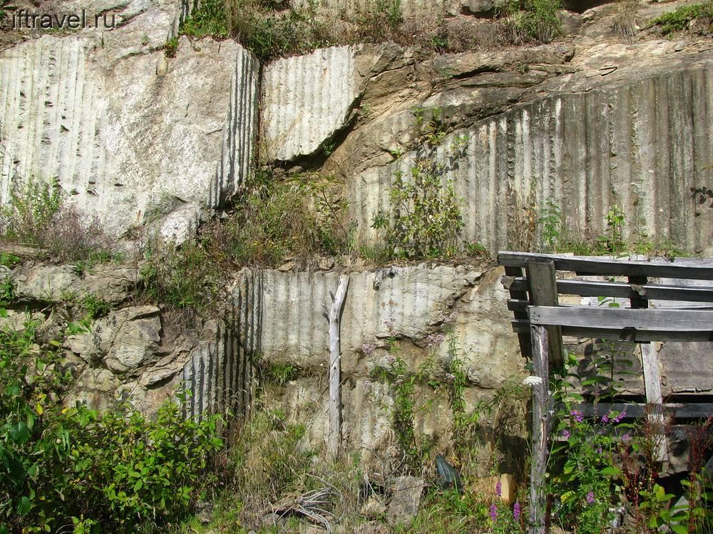 Место добычи камня