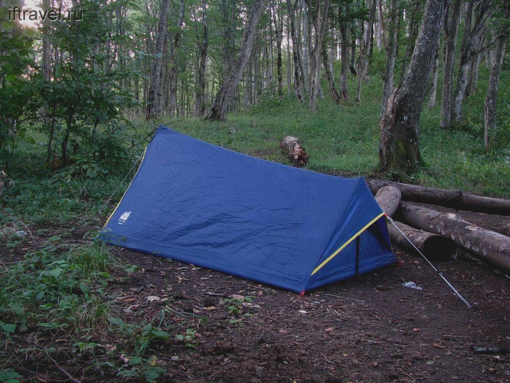 Наконец-то, палатка!