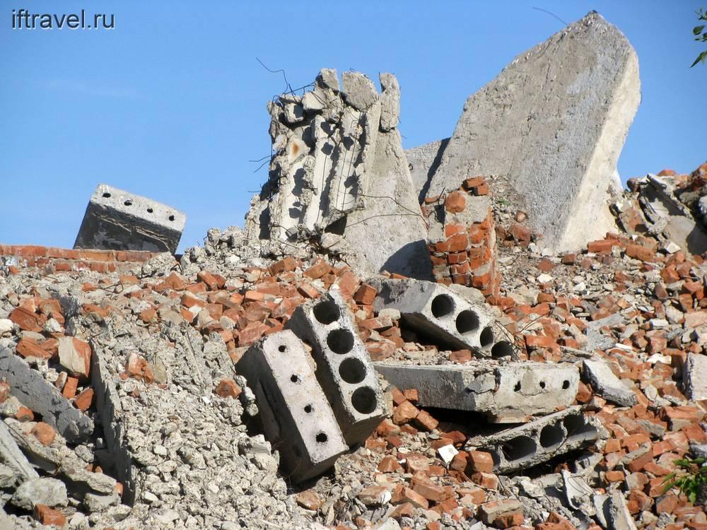Месиво кирпича и бетона