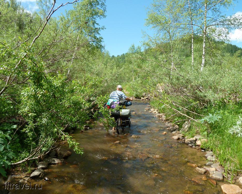 Путь по ручью Шагаленок