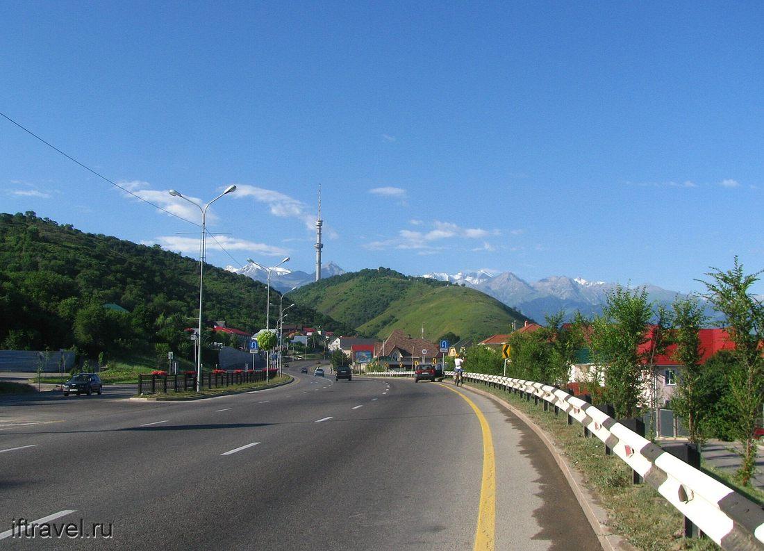 Въезжаем в Алматы