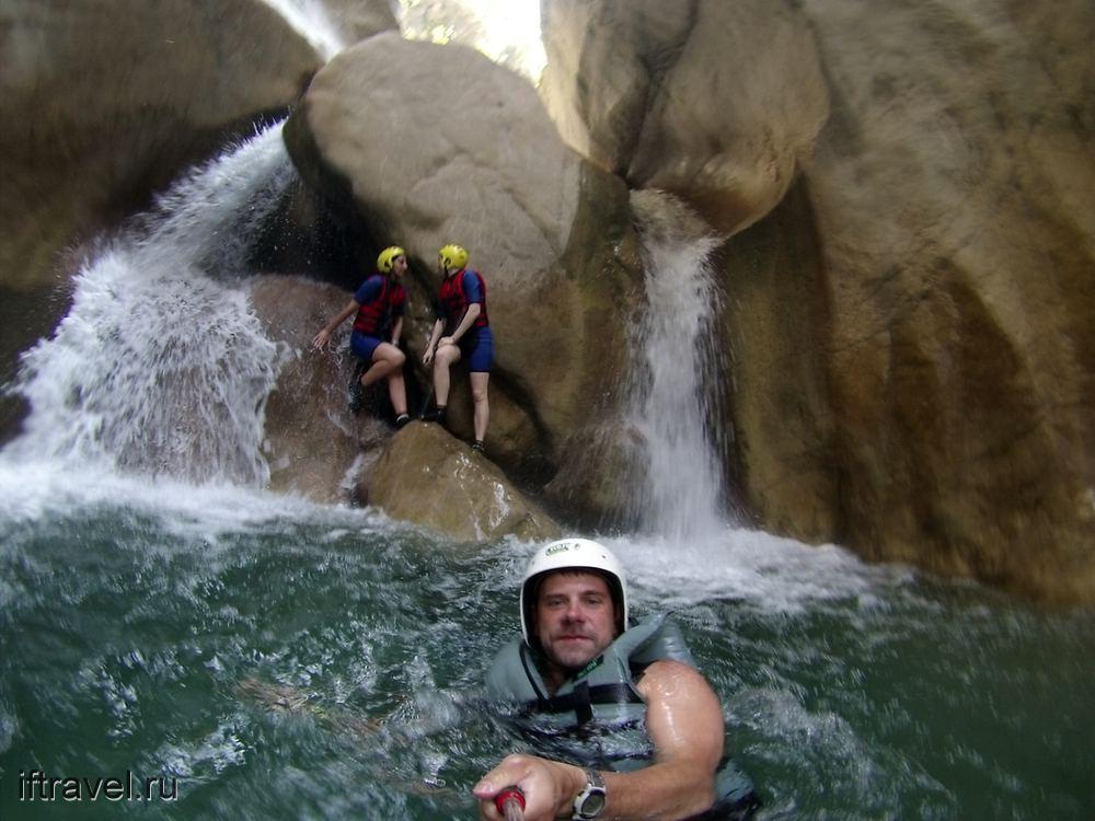 Гейнюкский каньон: водопад, конец пути