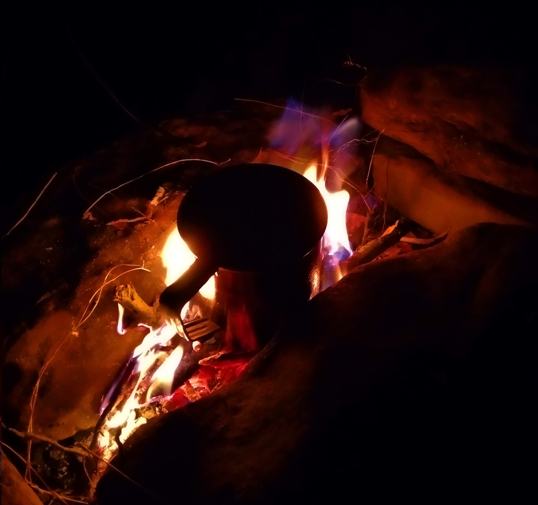 Вечерний костер в Агурском ущелье